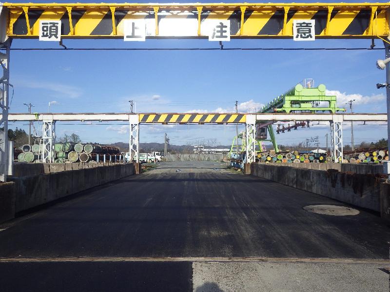 東北ポール㈱北上工場様 構内通路舗装修繕