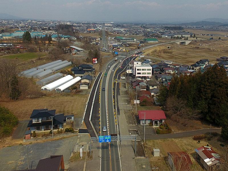 山の神道路改良